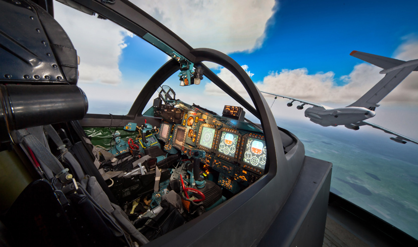 Effective simulation<br>of the most advanced<br>aviation combat systems
